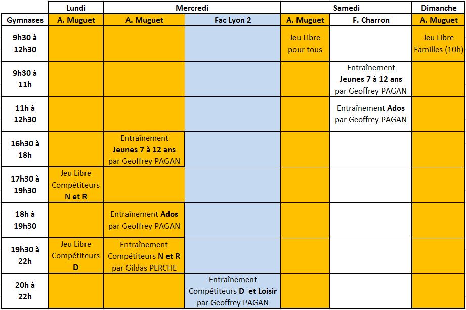 creneaux 2021-2022